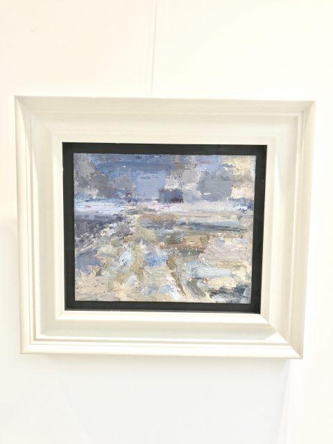 'Purple Cloud' (2016). Oil on Board. 25cm x 30cm behind non-reflective glass. POA.