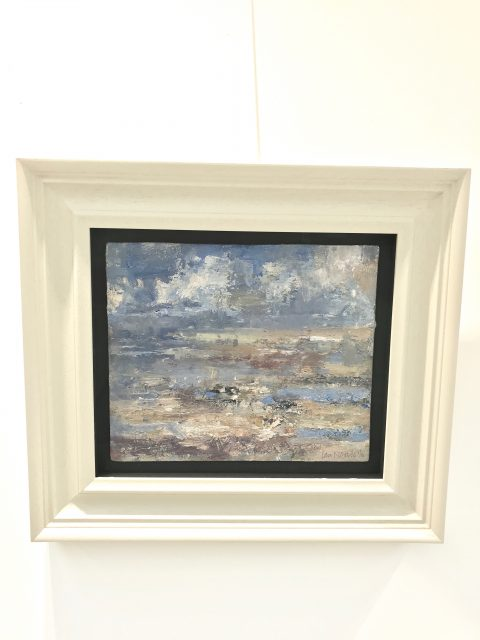 'Ainsdale - Pale Light' (2016). Oil on Board. 25cm x 30cm behind non-reflective glass. POA.