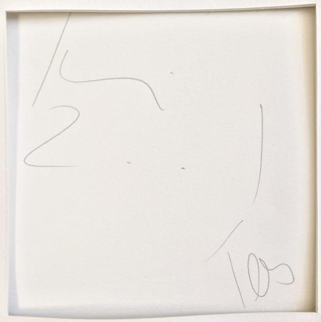 'Ghost Dog' (2001). 70cm x 100cm. 22 Dot version signature