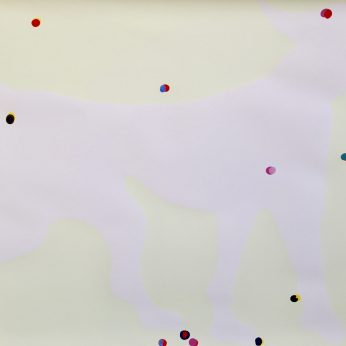 'Ghost Dog' (2001). 17 dot version. 70cm x 100cm. Colour serigraph with fluorescent (night-glow) printer's ink and acrylic on vellum. Signed verso. Individually hand finished. POA