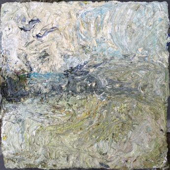 'View Above Newlyn'. (2014). Oil on Board. 33cm x 33cm. SOLD