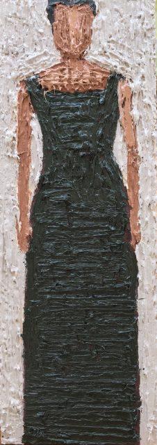 'Woman I'. Oil on Board. 36cm x 13cm. SOLD