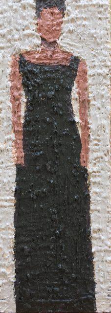 'Woman IV'. Oil on Board. 36cm x 13cm. SOLD