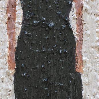 'Woman VI'. Oil on Board. 36cm x 13cm. SOLD