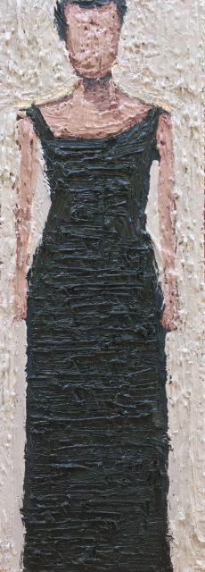 'Woman XVI'. Oil on Board. 36cm x 13cm. SOLD