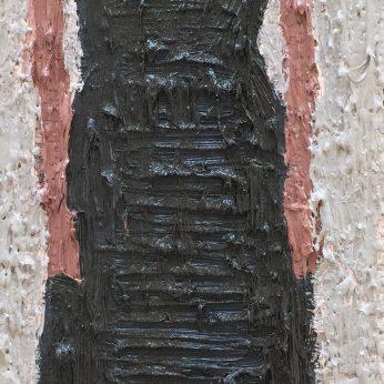 'Woman XVIII'. Oil on Board. 36cm x 13cm. SOLD
