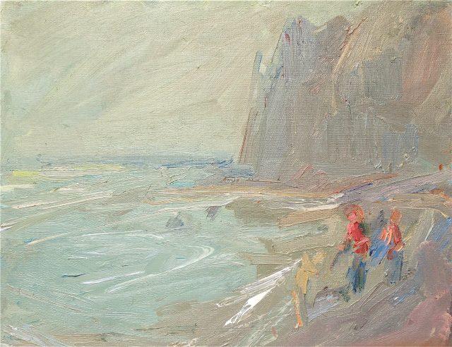 'Figures at St. Margaret's' (1987). Oil on Canvas. 51cm x 61cm. £1350