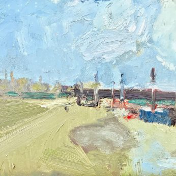 'Near Sandwich Bay' (1994). Oil on Board. 25cm x 32cm. POA