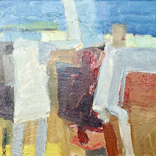 'Summer Conversation' (2011). Oil on Canvas. 30cm x 35cm. POA