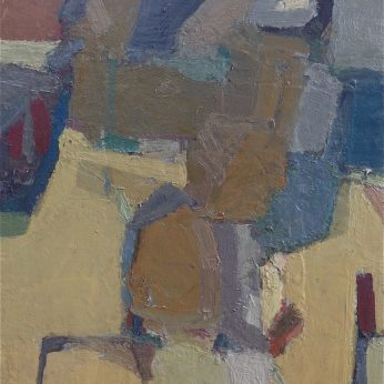 'Onboard Ship' (1990). 46cm x 41cm. Oil on Board. SOLD