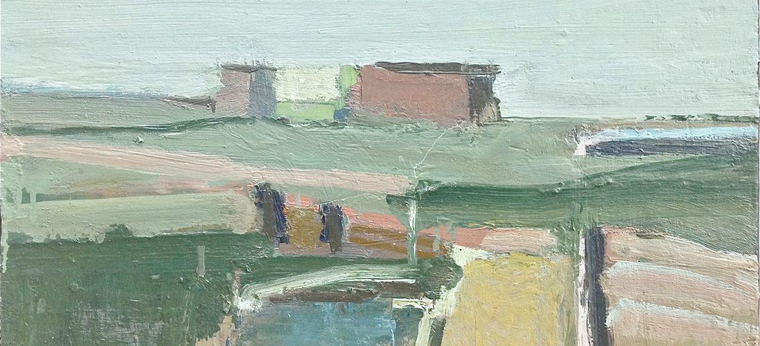 'Coastal Landscape.' Oil on Board. 34cm x 61cm. £1350