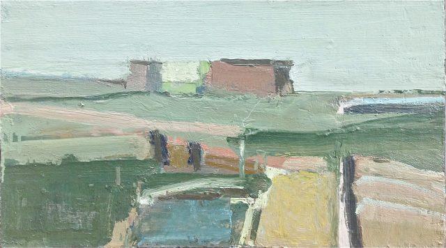 'Coastal Landscape.' Oil on Board. 34cm x 61cm. Please Enquire