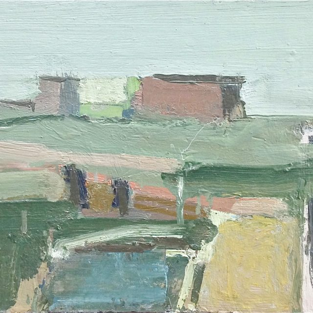 'Coastal Landscape.' Oil on Board. 34cm x 61cm. Please Enquire