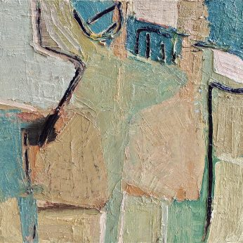 'Abstraction' (2010). Oil on Board. 46cm x 48cm. POA