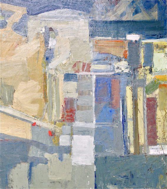 'Studio and Garden' (2015). Oil on Board. 102cm x 92cm. £1950