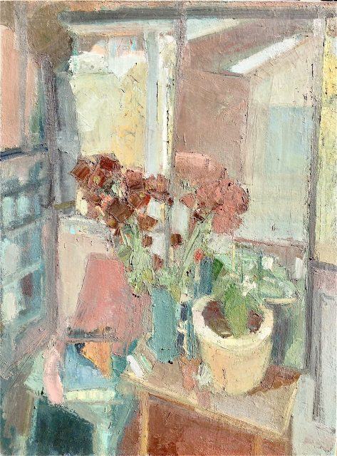 'Still Life with Flowers' (1981). Oil on Canvas'. 122cm x 92cm. POA