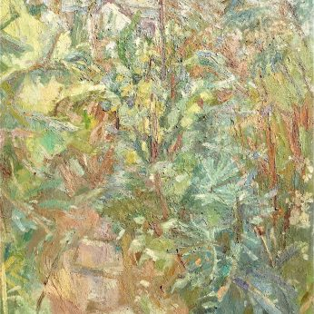 'Autumnal Garden' (1981). Oil on Board. 102cm x 92cm. POA