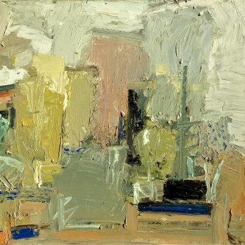 'Abstract Garden Study'. (1982). 82cm x 92cm. Oil on Canvas. POA
