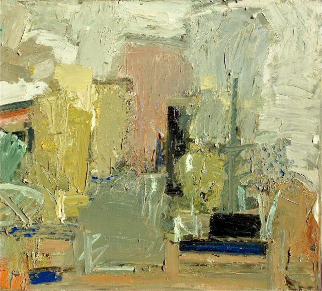 'Abstract Garden Study'. (1982). 82cm x 92cm. Oil on Canvas. £1500