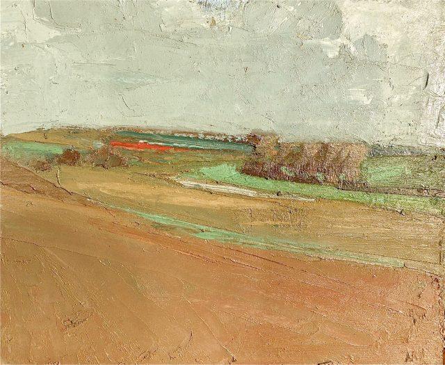 'Field at Betteshanger' (1995). Oil on Board. 51cm x 61cm. £1150
