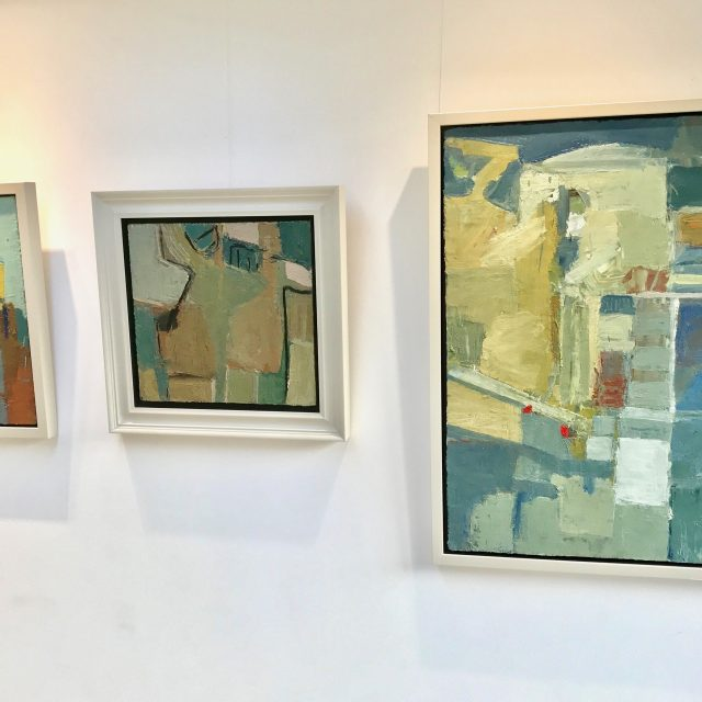 'Figures by the Sea' (1993), 'Untitled' (2010), and 'Studio and Garden' (2015)