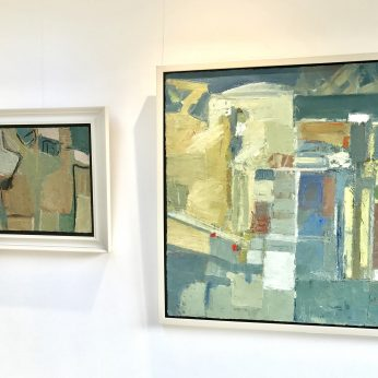 'Abstraction' (2010) and 'Studio and Garden' (2015). POA