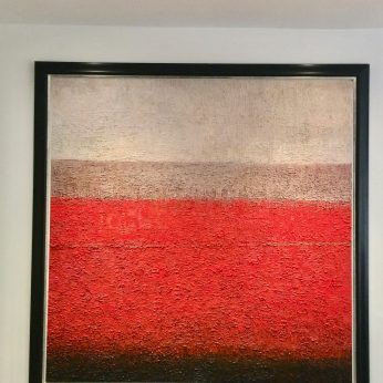 'Ancient Landscape in Red'. SOLD