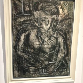 'Portrait of Jill' (1990). 94cm x 70cm. Charcoal on woven paper. POA.