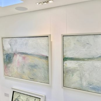 'Amethyst Field' (2013) SOLD & 'Winter Saltings' (2015). POA