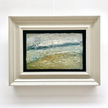 'View above Newlyn' (2014). Oil on Board. 19cm x 30cm. SOLD