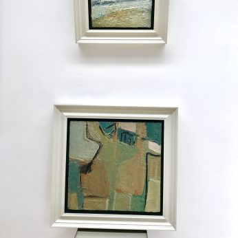 'View above Newlyn' (2014) by Richard Cook (Sold) and 'Abstract' by Arthur Neal