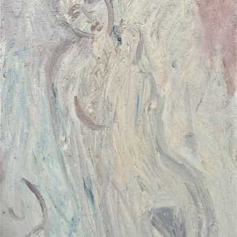 'Reclining Nude – Yvette (2004). Oil on Canvas. 122cm x 92cm. POA