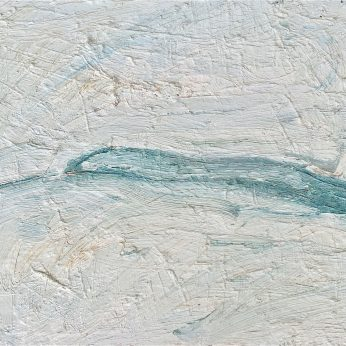 'Small Grey Headland' (2005). Oil on Board. 34cm x 40cm. SOLD