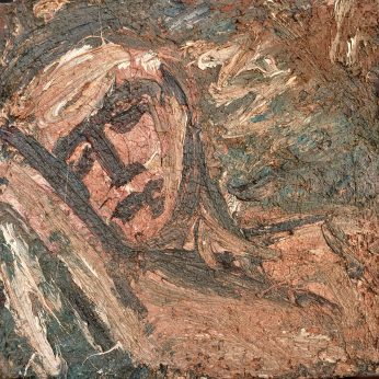 'Reclining Head - Saskia' (1987). Oil on Board. 46cm x 48cm. POA