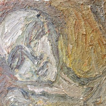 'Reclining Head' (1987). Oil on Board. 39cm x 55cm. POA