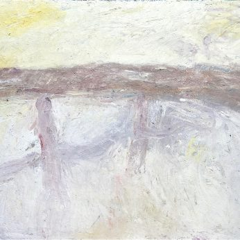 'Figures in Evening Light' (2000). Oil on Board. 123cm x 168cm. POA