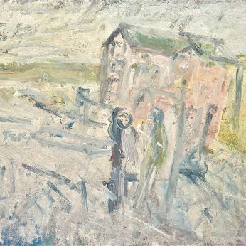 'Newlyn Seafront' (1992). Oil on Board. 122cm x 168cm. SOLD