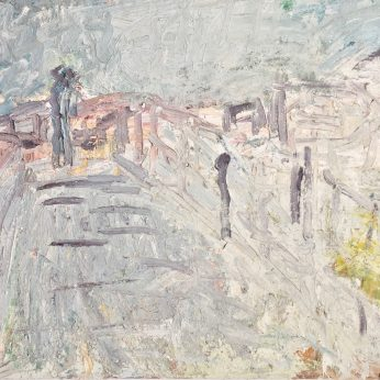 'By the Seafront' (1994). Oil on Board. 92cm x 122cm. SOLD