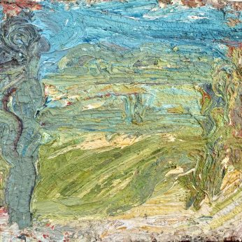 'Summer Seafront' (1995). Oil on Board. 32cm x 39cm. SOLD