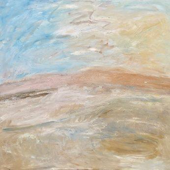 'Across the Mire, Dartmoor. (2008). Oil on Canvas. 140cm x 153. POA