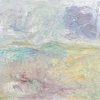 'Dartmoor in Wintertime'. (2014). Oil on Canvas. 118cm x 136cm. POA
