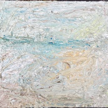 'Seascape near Newlyn' (2014). Oil on Board. 28cm x 31cm. POA