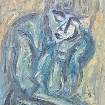 'Portrait of Janet' (1983). Oil on Board. 96cm x 76cm. POA