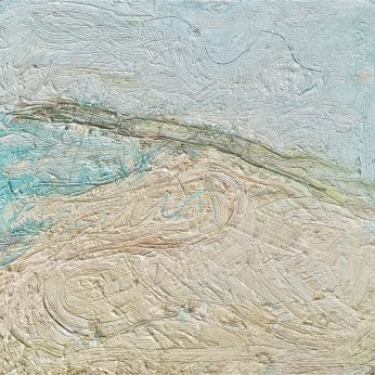 'Hawk Point' (1991). Oil on Board. 39cm x 40cm. SOLD