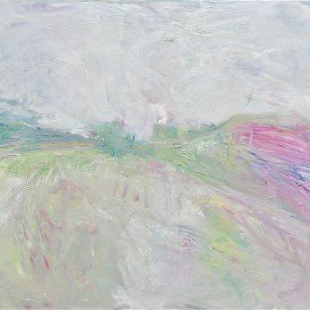 'Springtime - Fields Near Newlyn' (2014). Oil on canvas. 118cm x 136cm. POA