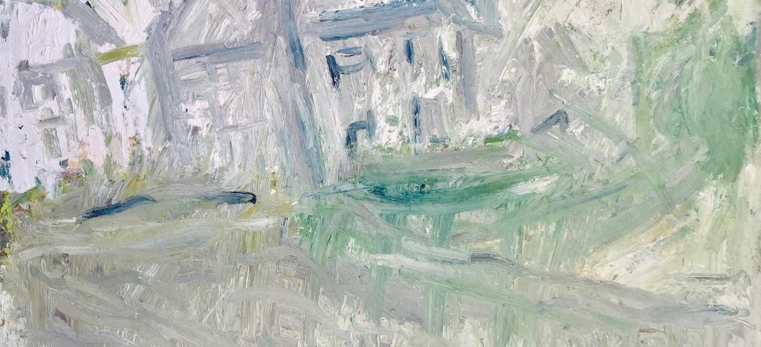 'Winter Houses' (1996). Oil on Board. 107cm x 122cm. POA