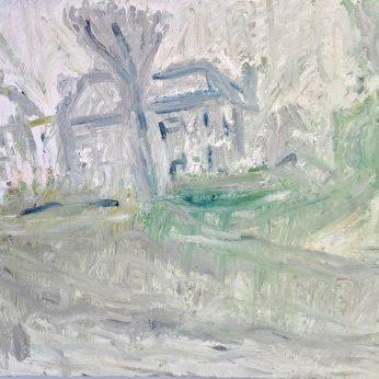 'Winter Houses' (1996). Oil on Board. 107cm x 122cm. POA