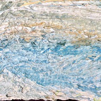 'Newlyn Seascape' (2015). Oil on Board. 19cm x 25cm. SOLD