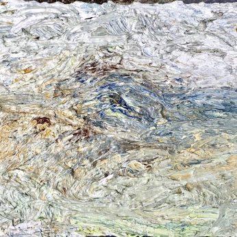 'Dartmoor in the Rain' (2014). Oil on Board. 17cm x 24cm. SOLD
