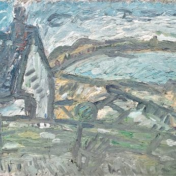 'View from Newlyn Studio' (1985). Oil on Canvas. 100cm x 153cm. POA